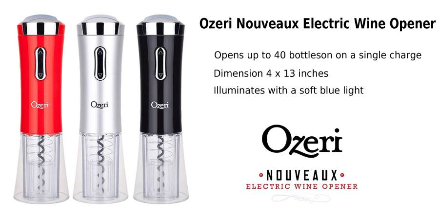 Ozeri Nouveaux Electric Wine Opener