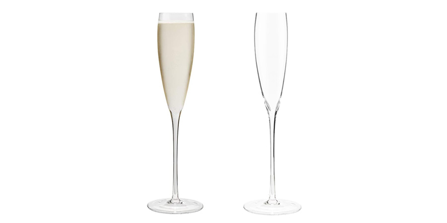 Champagne Flutes Tall Hand-Blown Lead-Free Crystal Glasses